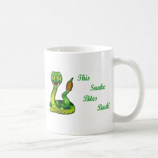 This snake Bites Back Funny Coffee Mug