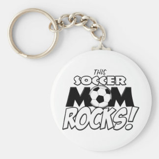 This Soccer Mom Rocks.png Basic Round Button Key Ring
