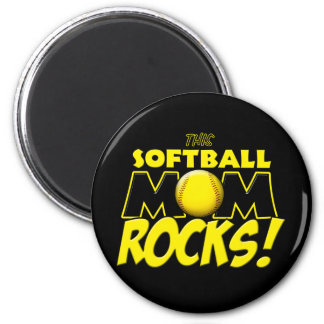 This Softball Mom Rocks copy.png 6 Cm Round Magnet