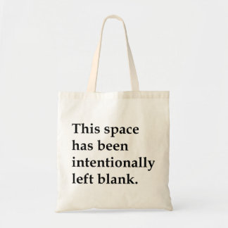 This Space Blank Budget Tote Bag