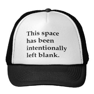 This Space Blank Cap