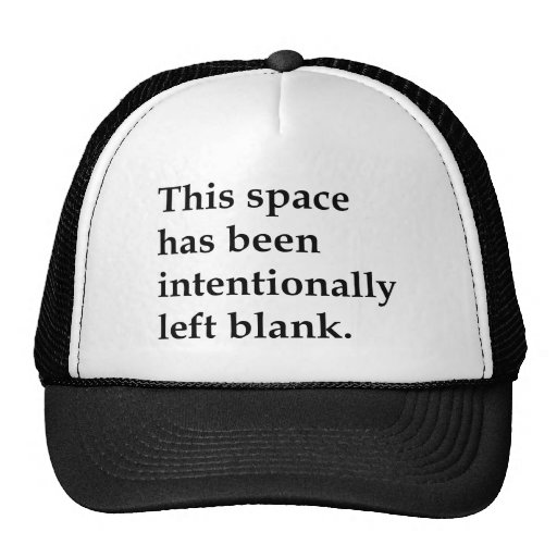This Space Blank Hat