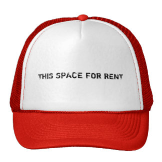 THIS SPACE FOR RENT HATS