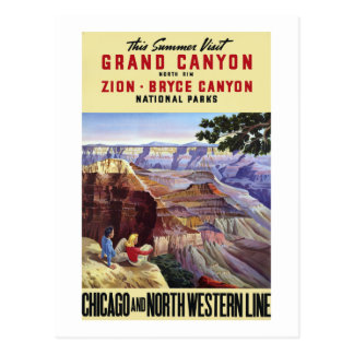 This Summer Visit Grand Canyon Postcard