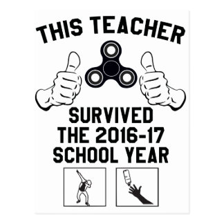 This teacher survived the school year postcard