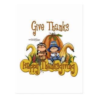 This Thanksgiving GIVE THANKS Postcard