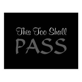 """""""This Too Shall Pass"""" Postcard"""