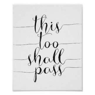 This Too Shall Pass Poster
