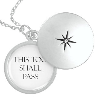 This Too Shall Pass Quotes Strength Quote Locket Necklace