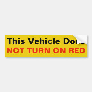 This Vehicle Does Not Turn on RED sticker