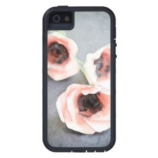 This watercolor print features three gorgeous pink iPhone 5 covers