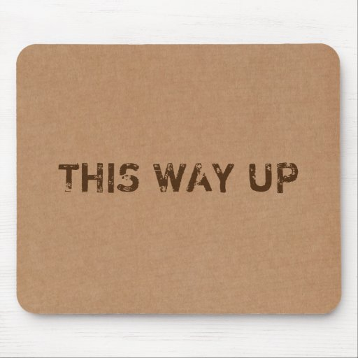This Way Up Cardboard Box Texture Mouse Pads