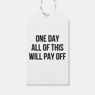 This Will Pay Off Gift Tags