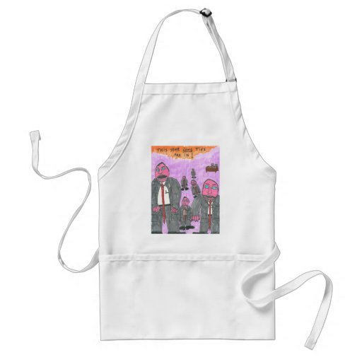 This Year, LONG Ties Are In!! Aprons