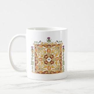Thistle and Crown Celtic Knot & Vines Illumination Coffee Mug