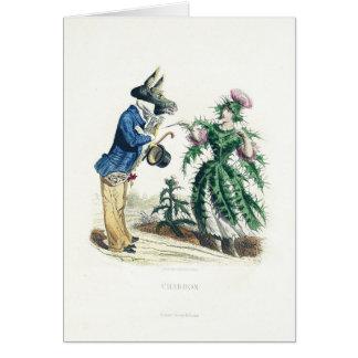 Thistle Flower Card