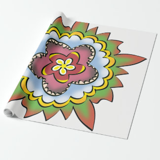 Thistle flower wrapping paper
