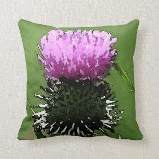 Thistle Pillow Je Suis Prest Scottish Thistle