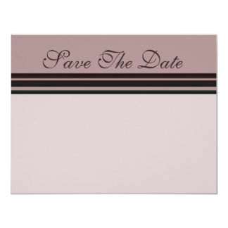 thistle plum striped Save the Date 4.25x5.5 Paper Invitation Card