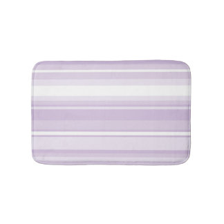 Thistle purple stripes bath mat