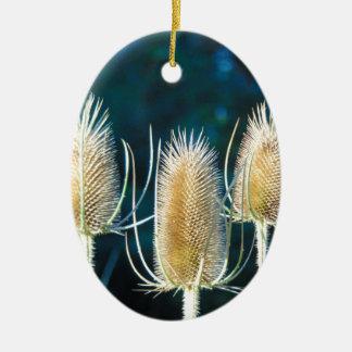 Thistle Trio Ceramic Ornament