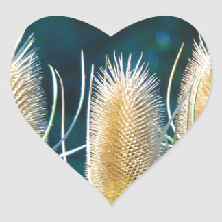 Thistle Trio Heart Sticker