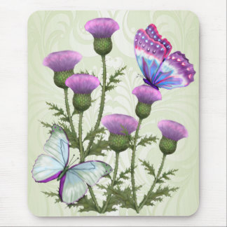 Thistles and Butterflies Mouse Pad
