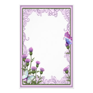 Thistles and Butterflies - Stationery