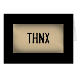 THNX STATIONERY NOTE CARD