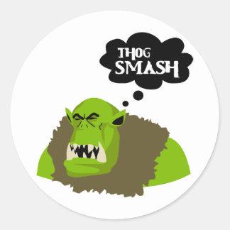 Thog Smash Classic Round Sticker