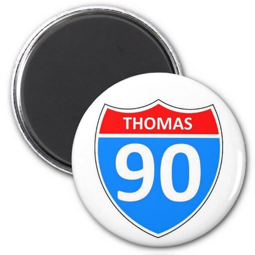 Thomas 90 refrigerator magnet