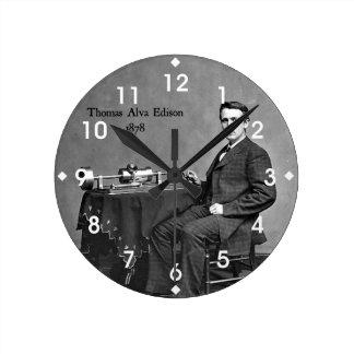 Thomas Alva Edison, 1878 Round Clock