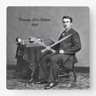Thomas Alva Edison, 1878 Wall Clocks