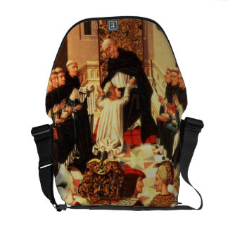 Thomas Aquinas being received into the Dominican O Messenger Bag