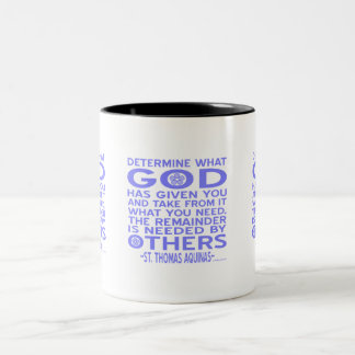 Thomas Aquinas God Given Light Blue Two-Tone Coffee Mug