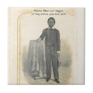 "Thomas ""Blind Tom"" Wiggins, 1859 Ceramic Tile"