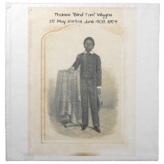 "Thomas ""Blind Tom"" Wiggins, 1859 Napkin"