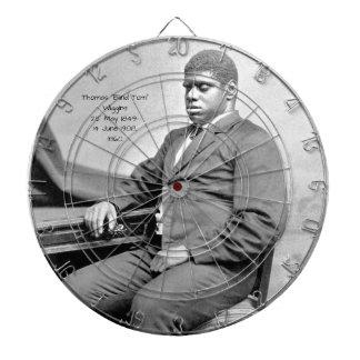 """Thomas """"Blind Tom"""" Wiggins, 1860 Dartboard"""