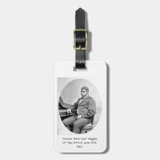 "Thomas ""Blind Tom"" Wiggins, 1860 Luggage Tag"