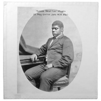 "Thomas ""Blind Tom"" Wiggins, 1860 Napkin"