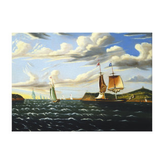 Thomas Chambers Staten Island and the Narrows Canvas Print
