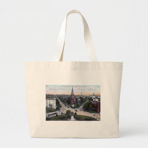 Thomas Circle, Washington DC 1910 Vintage Tote Bag
