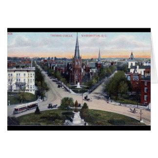 Thomas Circle, Washington DC 1910 Vintage Card