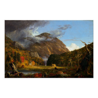 Thomas Cole A View of the Mountain Pass Poster