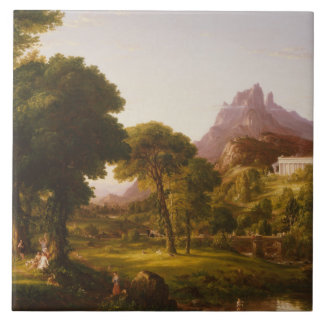 Thomas Cole - Dream of Arcadia Large Square Tile