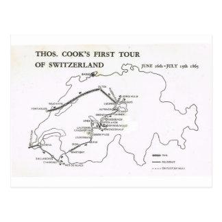 Thomas Cook's First tour of Switzerland 1863 Postcard