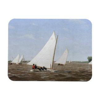 Thomas Eakins - Sailboats Racing on the Delaware Rectangular Photo Magnet