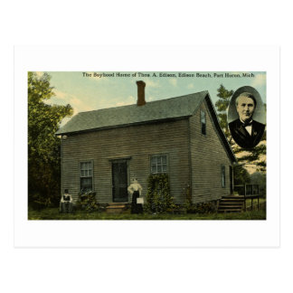 Thomas Edison Boyhood Home - Vintage Postcard
