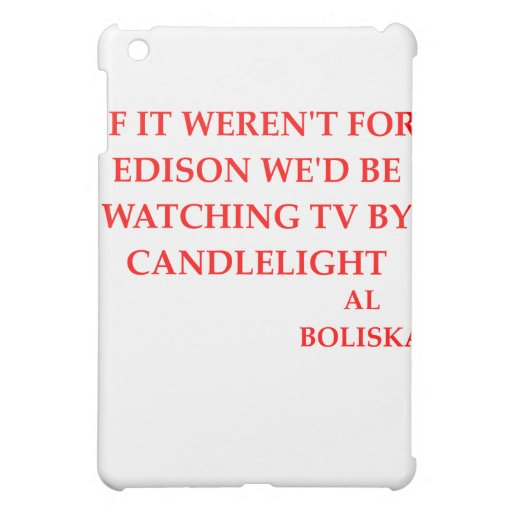 thomas edison joke iPad mini covers