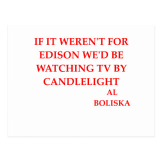 thomas edison joke postcard